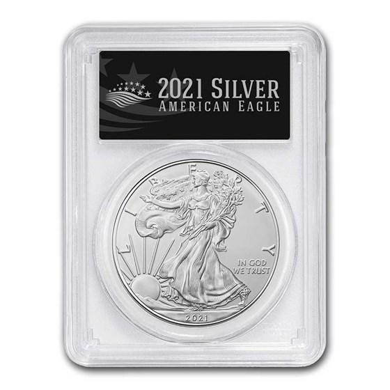 2021 American Silver Eagle (Type 1) MS-70 PCGS (FS, Black Label)