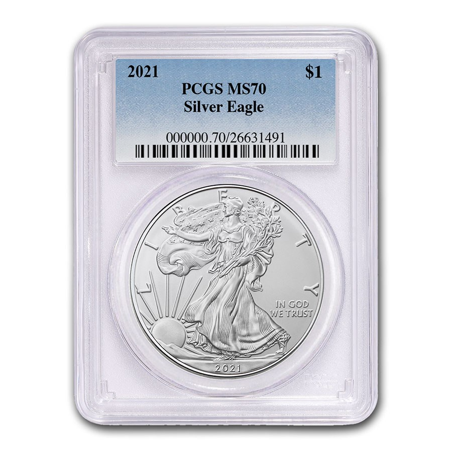 2021 American Silver Eagle (Type 1) MS-70 PCGS