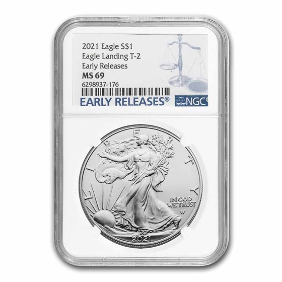 2021 American Silver Eagle (Type 2) MS-69 NGC (Early Release)
