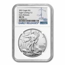 2021 American Silver Eagle (Type 2) MS-70 NGC (Early Release)