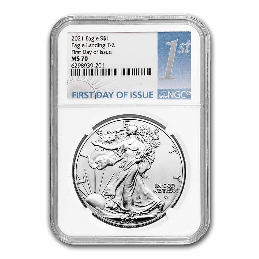 2021 American Silver Eagle (Type 2) MS-70 NGC (FDI)