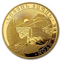 2021 Armenia 1/4 oz Gold 10,000 Dram Noah's Ark BU
