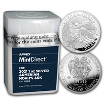 2021 Armenia 1 oz Silver Noah's Ark (20-Coin MintDirect® Tube)