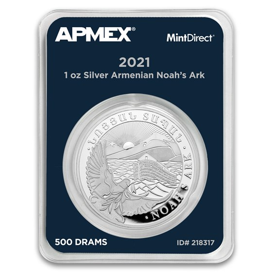 2021 Armenia 1 oz Silver Noah's Ark (MintDirect® Single)