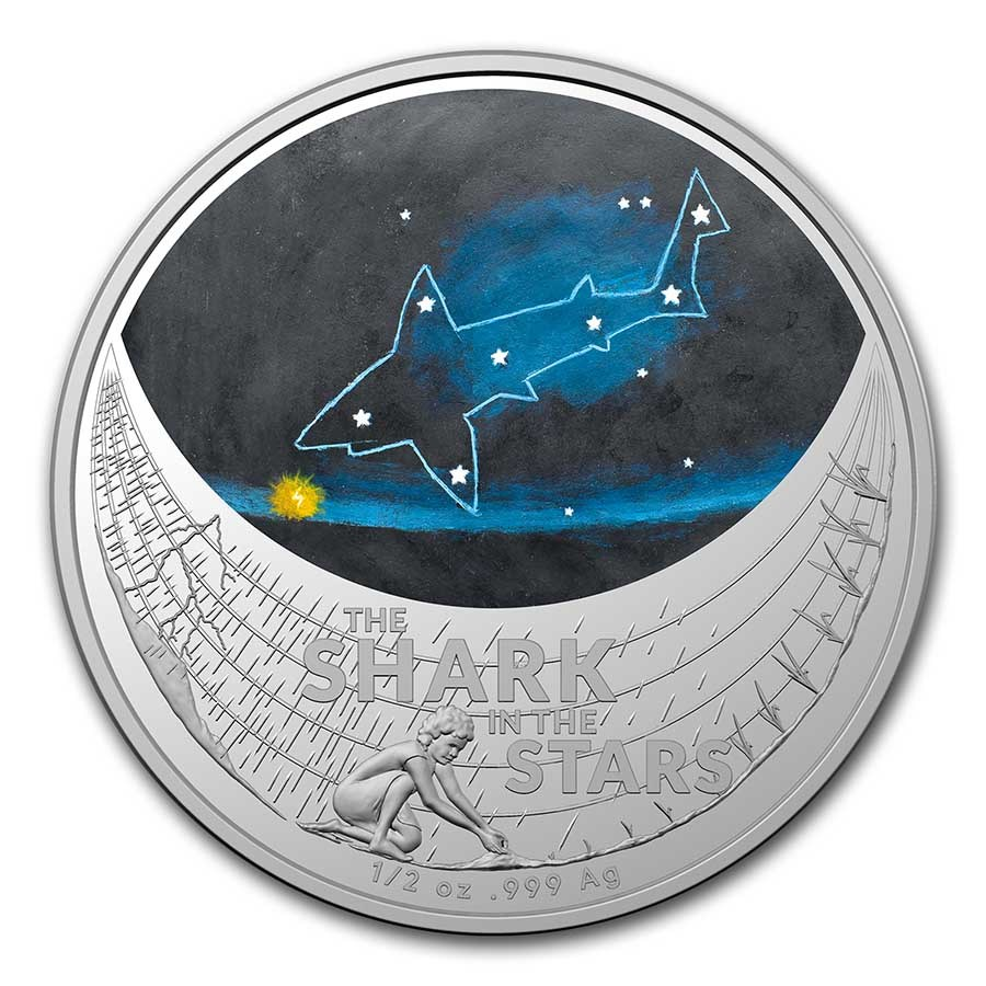 2021 AUS 1/2 oz Silver Star Dreaming Shark in the Stars
