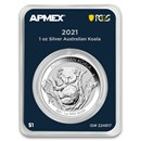 2021 AUS 1 oz Ag Koala (MintDirect® Premier Single + PCGS FS®)