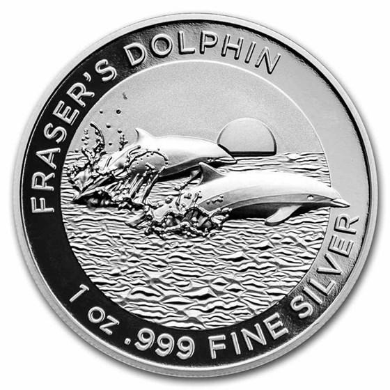 2021 AUS 1 oz Silver Dolphin High Relief Proof (w/Box & COA)