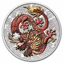 2021 AUS 1 oz Silver Dragon Colorized BU (in Capsule)