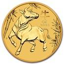 2021 Australia 1/10 oz Gold Lunar Ox BU (Series III)