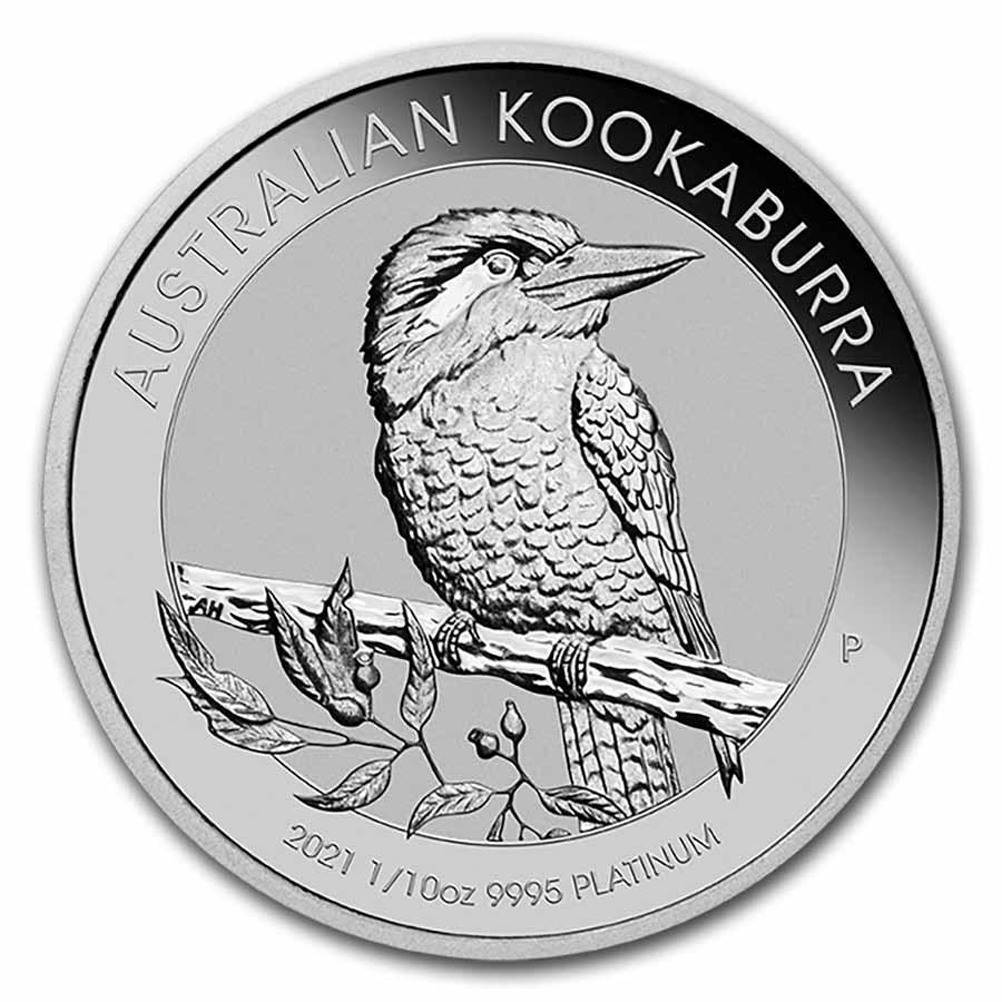 2021 Australia 1/10 oz Platinum Kookaburra BU
