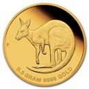 2021 Australia 1/2 Gram Gold Kangaroo Mini Roo BU (Assay Card)