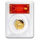 2021 Australia 1/2 oz Gold Lunar Ox MS-70 PCGS (FS, Red Label)