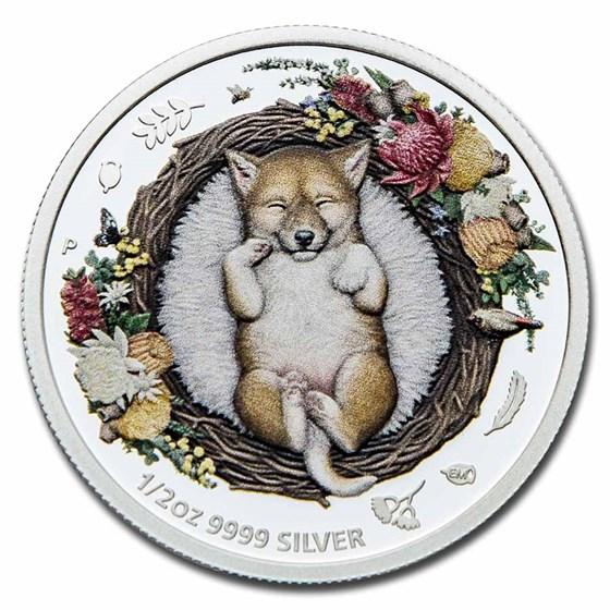 2021 Australia 1/2 oz Silver Dreaming Down Under Dingo Proof