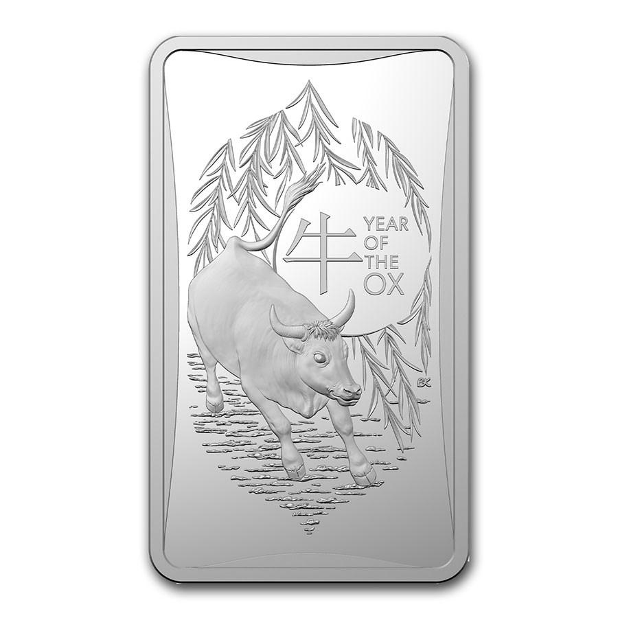 2021 Australia 1/2 oz Silver Lunar Year of the Ox Ingot