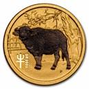 2021 Australia 1/20 oz Gold Lunar Ox BU (Series III, Colorized)