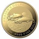 2021 Australia 1 oz Gold $100 Dolphin BU (w/Box & COA)