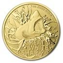 2021 Australia 1 oz Gold $100 Great White Shark BU (w/COA)