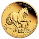 2021 Australia 1 oz Gold Australian Brumby Proof (w/Box & COA)