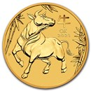 2021 Australia 1 oz Gold Lunar Ox BU (Series III)