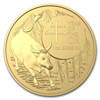 2021 Australia 1 oz Gold Lunar Year of the Ox BU