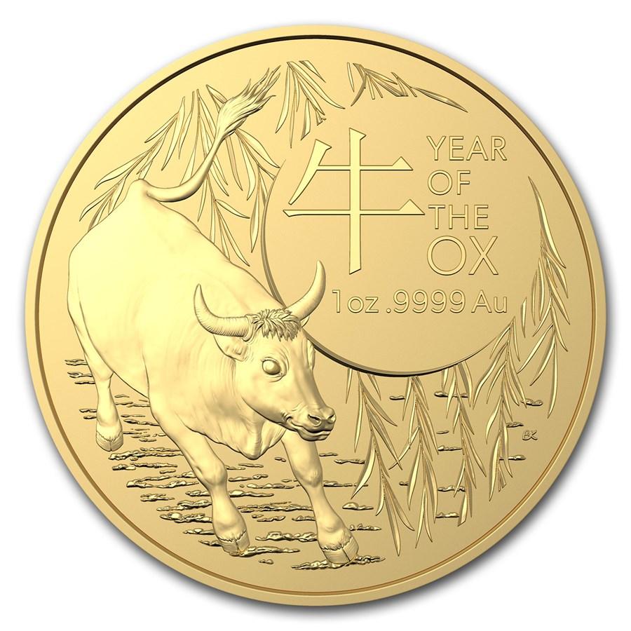 2021 Australia 1 oz Gold Lunar Year of the Ox BU