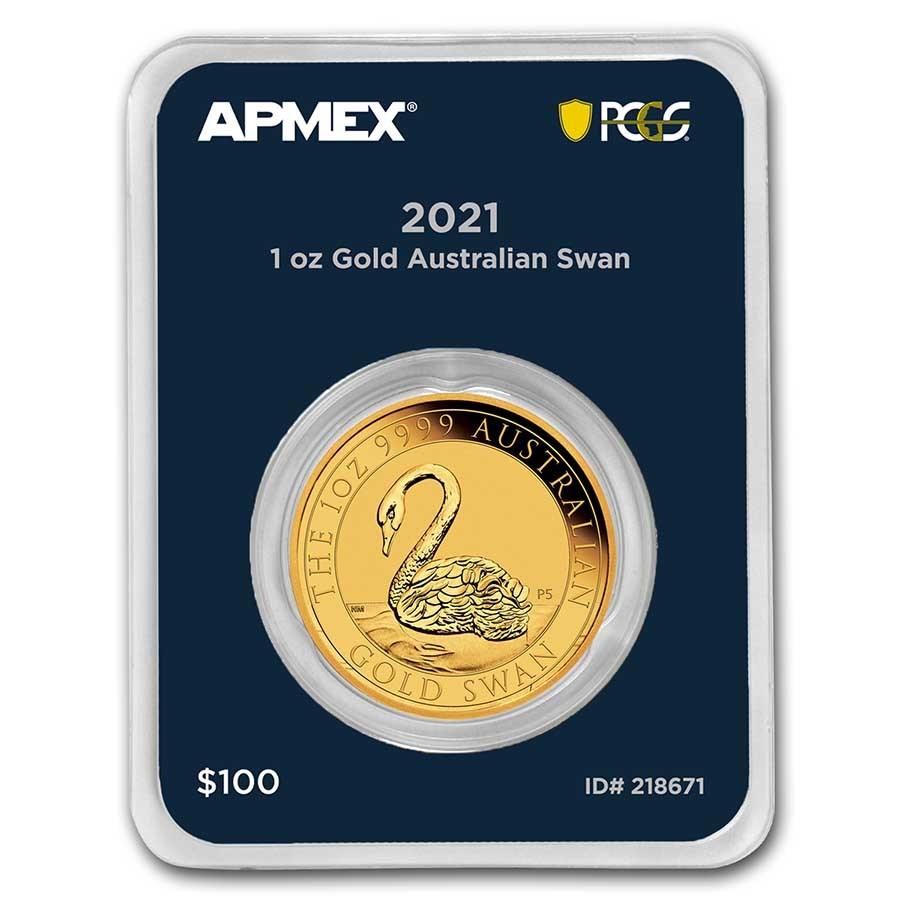 2021 Australia 1 oz Gold Swan (MD® Premier Single + PCGS FS®)