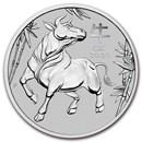 2021 Australia 1 oz Platinum Lunar Ox BU (Series III)