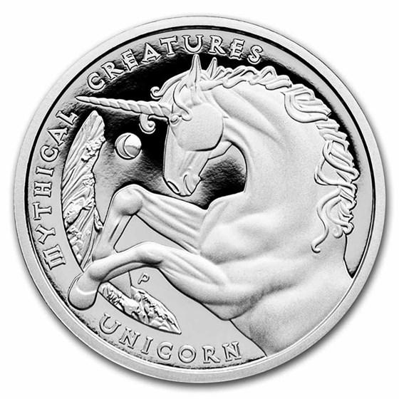 2021 Australia 1 oz Platinum Prf Mythical Creatures: The Unicorn