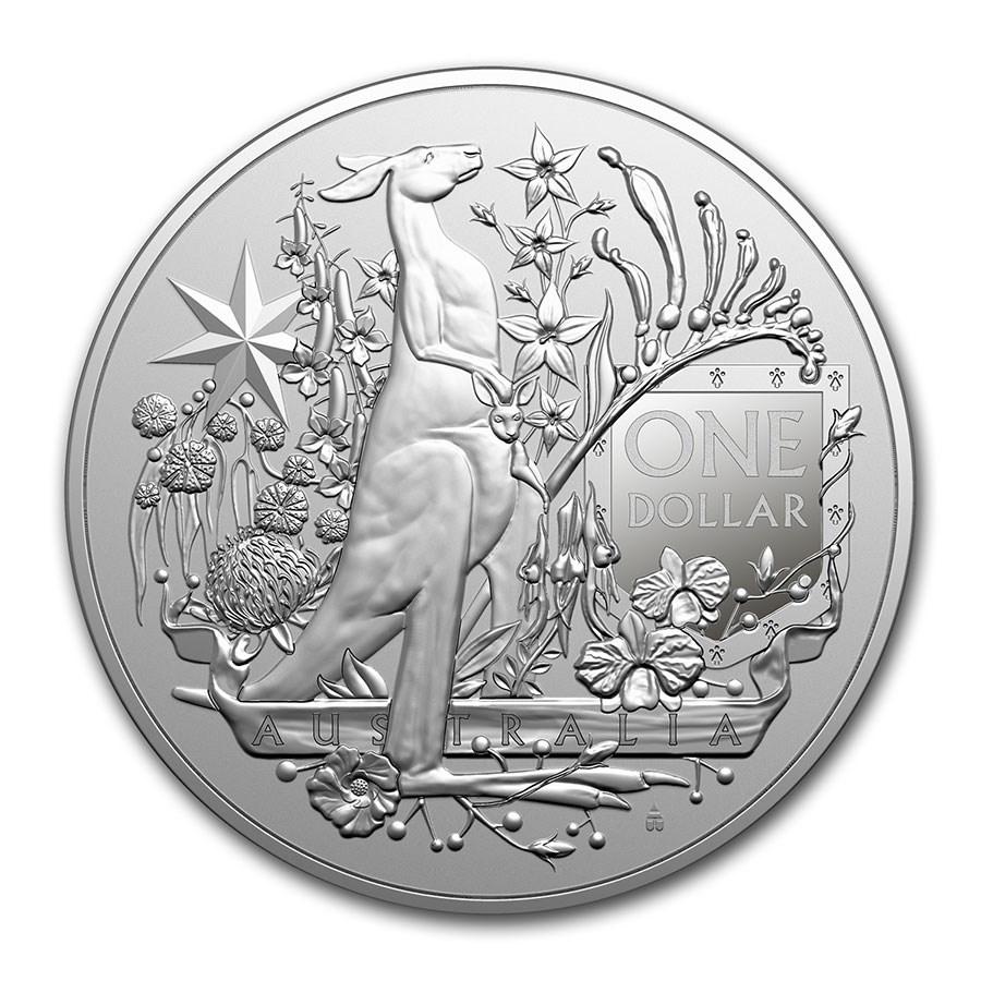 2021 Australia 1 oz Silver $1.00 Coat of Arms BU