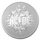 2021 Australia 1 oz Silver $1 AC/DC Coin (w/Box)