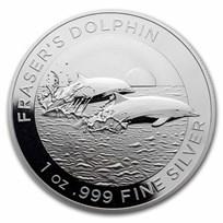 2021 Australia 1 oz Silver $1 Fraser's Dolphin BU
