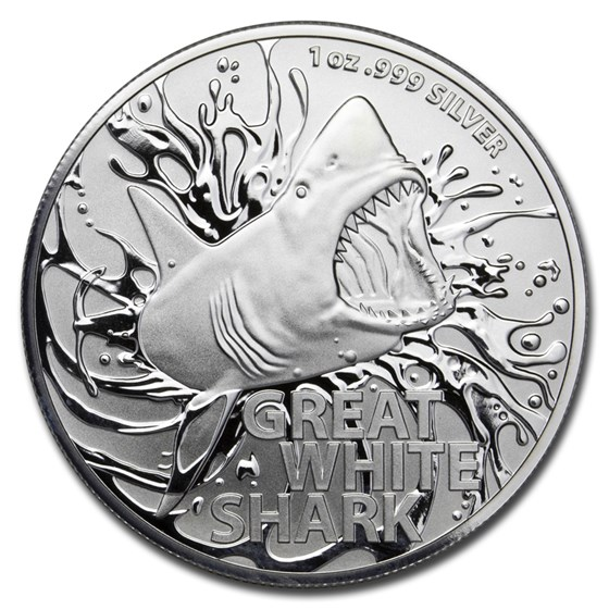 2021 Australia 1 oz Silver $1 Great White Shark BU