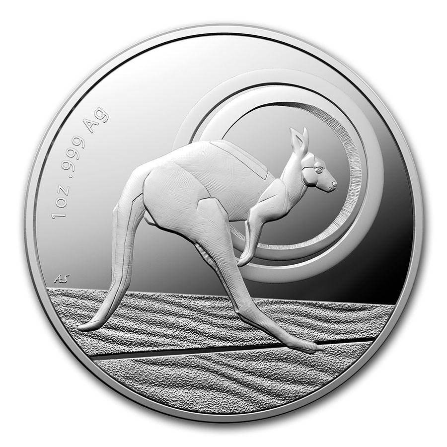 2021 Australia 1 oz Silver $1 Kangaroo: Outback Majesty (Proof)