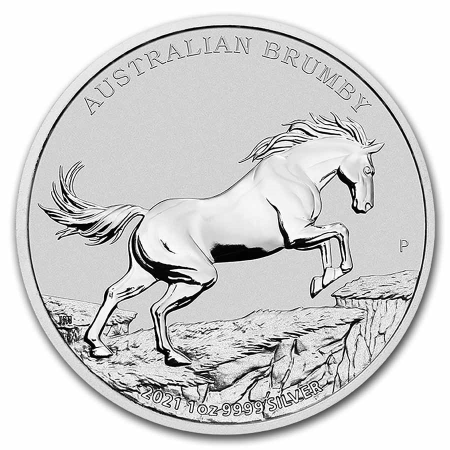 2021 Australia 1 oz Silver Australian Brumby BU