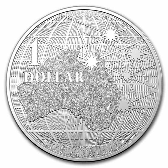 2021 Australia 1 oz Silver Beneath the Southern Sky BU