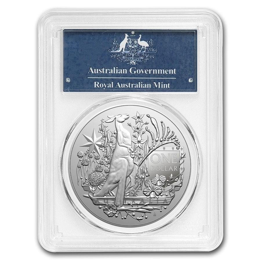 2021 Australia 1 oz Silver Coat of Arms MS-70 PCGS (FS)