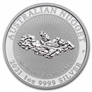 "2021 Australia 1 oz Silver ""Golden Eagle"" Nugget BU"