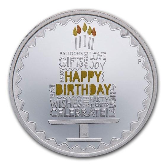 2021 Australia 1 oz Silver Happy Birthday Proof