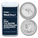 2021 Australia 1 oz Silver Kangaroo (25-Coin MintDirect® Tube)