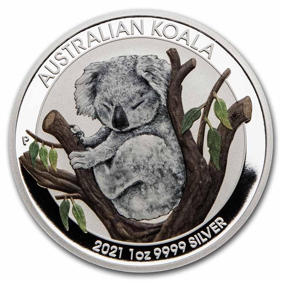 2021 Australia 1 oz Silver Koala BU (ANDA Brisbane Special)