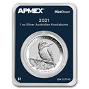 2021 Australia 1 oz Silver Kookaburra (MintDirect® Single)