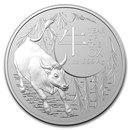 2021 Australia 1 oz Silver Lunar Year of the Ox BU