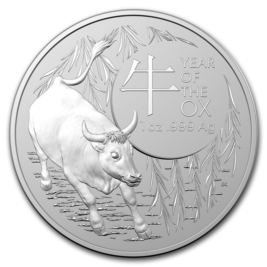 2021 Australia 1 oz Silver Lunar Year of the Ox BU