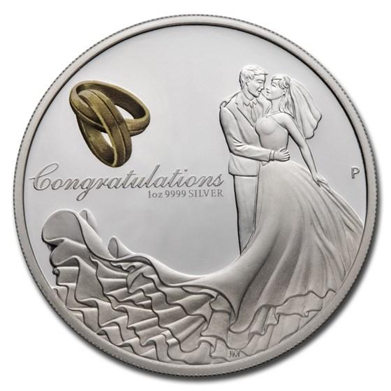 2021 Australia 1 oz Silver Wedding Proof