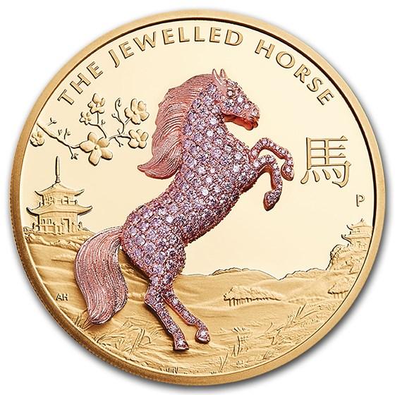 2021 Australia 10 oz Gold Jewelled Horse Proof
