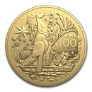 2021 Australia $100 1 oz Gold Coat of Arms BU