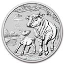 2021 Australia 2 oz Silver Lunar Ox BU (Series III)