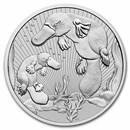 2021 Australia 2 oz Silver Platypus BU (Piedfort)