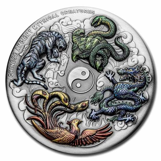2021 Australia 5 oz Silver Mythical Creatures (Antiqued)