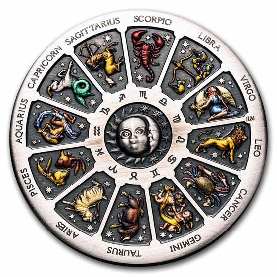 2021 Australia 5 oz Silver Signs of the Zodiac (Antiqued)